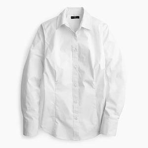 J. Crew Petite curvy slim stretch perfect shirt